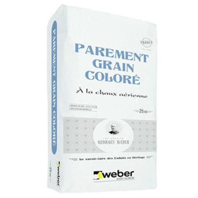 Weber parement grain coloré - Sac 25 kg